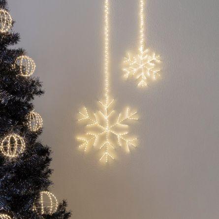 Flocon de neige LED «Angel Hair Argento»