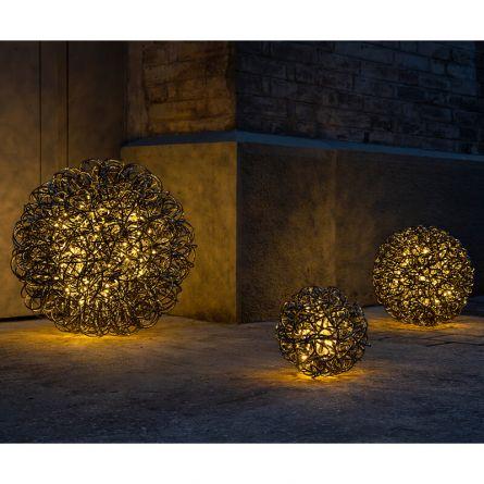 LED Metall-Ball «Leonis NERO»