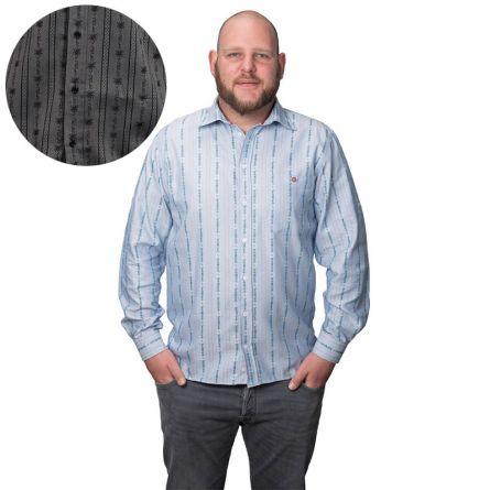 Chemise pour hommes «Edelweiss» à manches longues, avec col noué