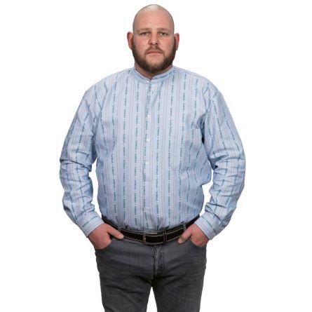 Herrenhemd «Edelweiss» langarm, ohne Kragen