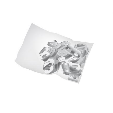 Œillets pour ruban métallique, 100 pièces