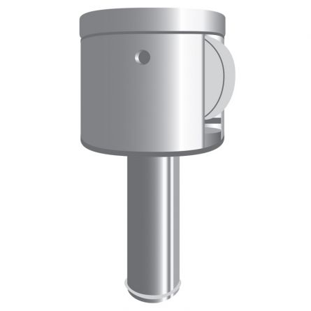 Drehkopf mit Rolle Aluminium