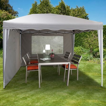 Pavillon de jardin «Easy-Up» 3x3 m gris