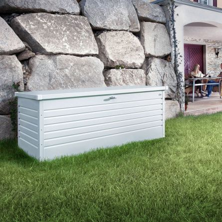 biohort Hochwertige Freizeitbox «Metall» 460 Liter, weiss