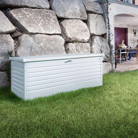 biohort Hochwertige Freizeitbox «Metall» 800 Liter, weiss