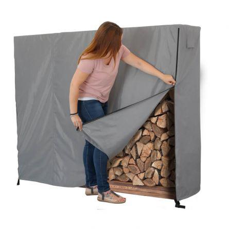 Blache für Feuerholzstapel 200 x 50 x 150 cm