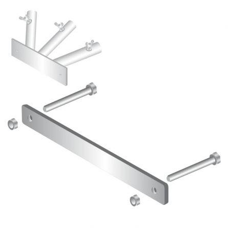 Balkonbride Fahnenstangenhalter 3-armig Stahl feuerverzinkt
