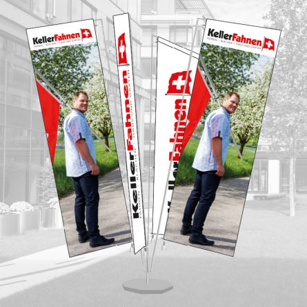 Fahnenburg 4-teilig für Auslegerfahne