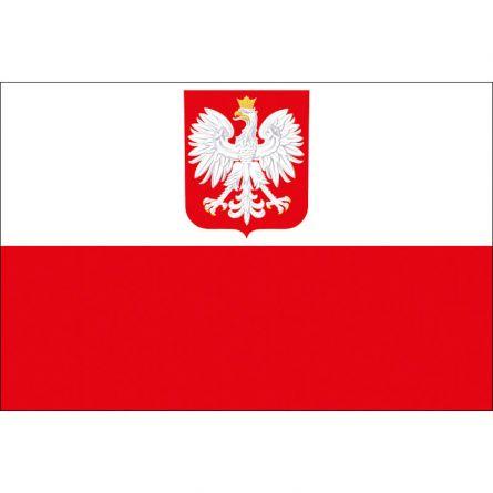 Drapeau national Pologne avec symbol