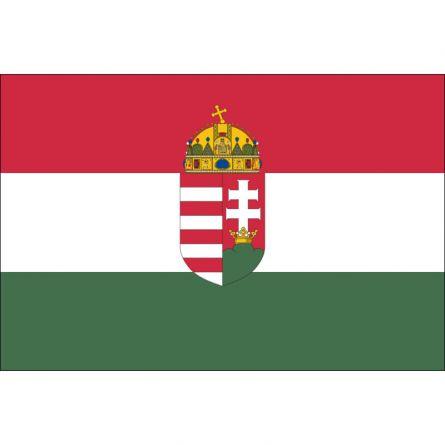 Drapeau national Hongrie avec symbol