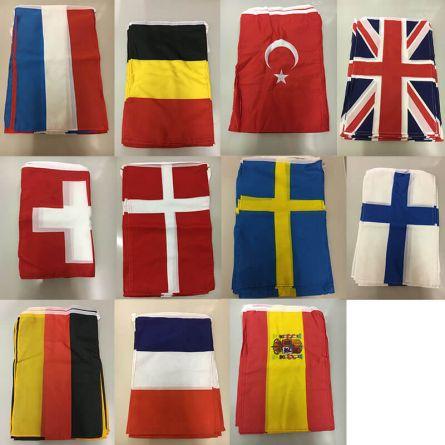 Chaînes drapeau pays «Stock restant», 30×45 cm, 10 mètres