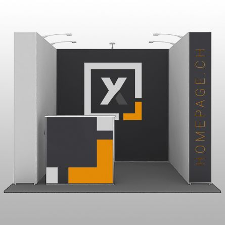 Stand d'exposition «Forme U»