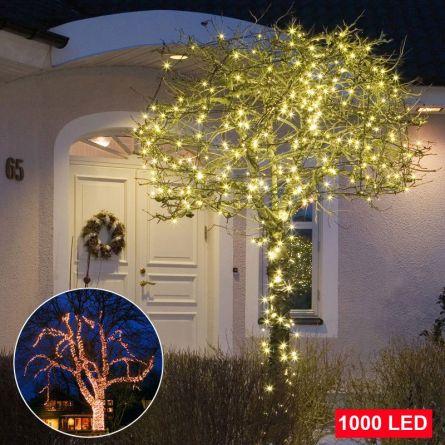 Micro-guirlande lumineuse à LED blanches chaudes