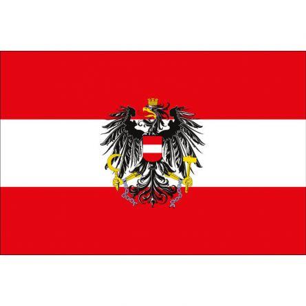 Drapeau national Autriche avec symbole