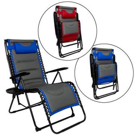 Relax Chair mit Sonnendach und Polsterung
