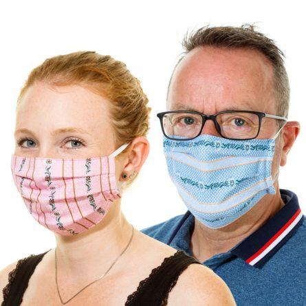 Stoffmasken «Edelweiss»