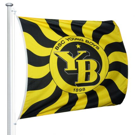 Sportfahne BSC YB official «Geflammt» Superflag® 150x150 cm